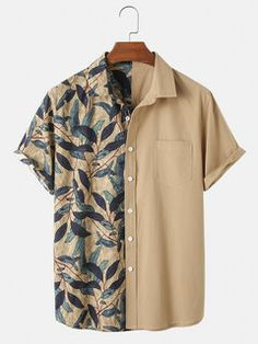 Stylish Mens Outfits, Cool Outfits, Casual Outfits, Cool Shirts, Casual Shirts, Mens Printed Shirts, Androgynous Fashion, Mode Streetwear, Shorts With Pockets