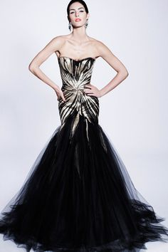 love the fitted bodice with gentle taper into mermaid flair with chiffon