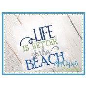 Applique Corner Applique Design Life is Better at the Beach Embroidery Design