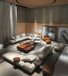 FLEXFORM | WING sectional sofa area.