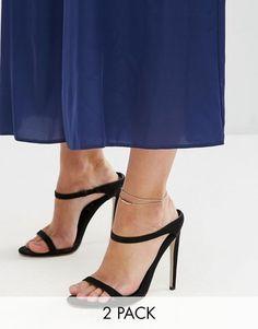 7c3dbd08e1c513 Asos Pack Of 2 Fine Ball Charm Anklets Silver Ankle Bracelet