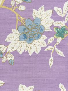 Quadrille Happy Garden Lavender on Tint