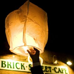 Absolutely love the lantern send-off idea {Holly Graciano Photography}