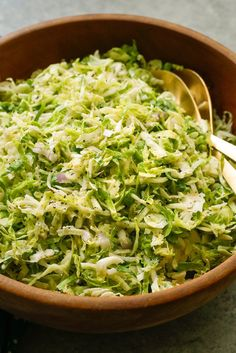 Like cabbage, raw brussels sprouts do well when shredded and mixed with a tart apple, lemon juice and zest, and a dressing of Dijon mustard and mayonnaise It's not a traditional slaw, but the concept is the same. Serve this immediately, or give it some time in the fridge to let the flavors meld. (Craig Lee for The New York Times)