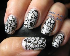 Light of the Moon Nails with LynBDesigns Hermits United