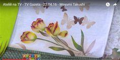 Stencil OPA - 22/04/16 - Mayumi Takushi - Tecido Tulipas Amarelas