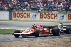 Gilles Villeneuve (CAN) (Scuderia Ferrari), Ferrari 126CK - Ferrari V6 Turbo Hockenheim, 1981.