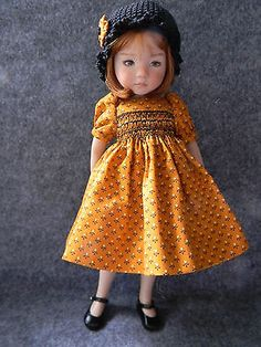 Pretty-Smocked-Dress-for-Effner-Little-Darling-13-doll-by-lkb. SOLD for $28.00 on 9/21/14.