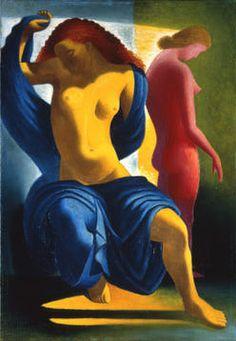 Jose de Almada-Negreiros Portugal, Pink Painting, Art Deco, European Paintings, Art Database, Art For Art Sake, Renaissance Art, Erotic Art, Figurative Art