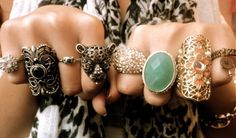 "Love these rings   via ""we heart it"" on tumblr"