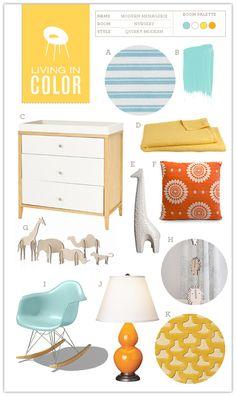 Great kids room colors, a baby boy nursery, even baby girl could work...