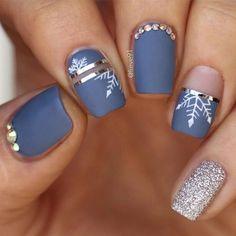 52 winter nail colors and designs, mismatched nail colors, mismatched nail designs, winter nail - Nails Winter Nail Art, Winter Nail Designs, Colorful Nail Designs, Winter Nails, Nail Art Designs, Nails Design, Nail Ideas For Winter, Colorful Nails, Christmas Nail Designs