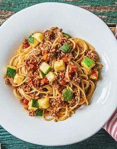 Healthy Beef Ragù Spaghetti with Zucchini, Parmesan, and Pepperolio | More quick and easy pasta recipes on hellofresh.com