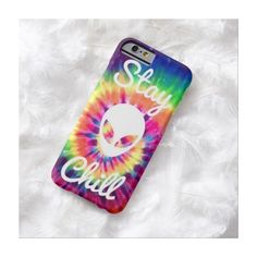 Zazzle Stay Chill Alien Tie Dye iPhone 6 case ($43) ❤ liked on Polyvore featuring accessories, tech accessories, phone cases, phone, iphone cases, tie dye iphone case, iphone cover case y apple iphone cases