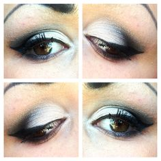 Simple black and white smokey eye