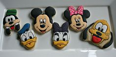 Mickey Mouse Clubhouse Decorated Sugar Cookies-Mickey Mouse, Minnie Mouse, Donald Duck, Daisy Duck, Goofy, Pluto Cookies by MaMiMorCookies on Etsy