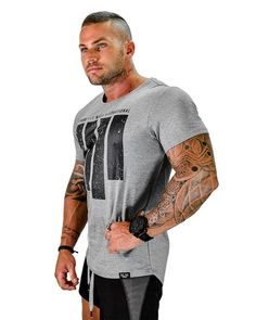 Men summer gyms T-Shirt Fitness Bodybuilding Shirts Cotton Crossfit workout Short Sleeve men T-Shirt male Brand Tees Tops Cool Casual Wear For Men, Men Casual, New Mens Fashion, Swag Fashion, Fashion Photo, Fashion Tips, Crossfit Men, Ropa Hip Hop, Gym Tops