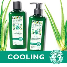 Need a soothing, summer refreshment after too much sun? Try Andalou Naturals cooling Aloe Mint Body Lotion and Aloe Mint Shower Gel to freshen, vitalize, and moisturize for soft, healthy skin. Click through for an exclusive deal.   #andalounaturals #aloe #summer