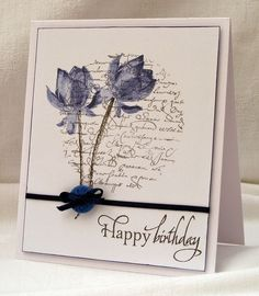 Lotus Blossom Birthday card