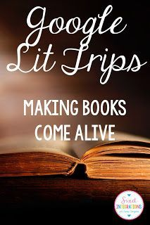 Make your books come alive with Google Lit Trips. Your students will love visiting all the locations mentioned in your book.