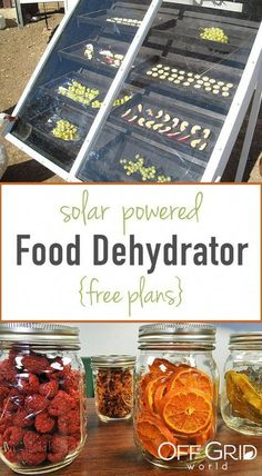 How To Make A Solar Powered Food Dehydrator Free Plans - pinupi love to share Solar Energy Panels, Best Solar Panels, Solar Energy System, Solar Power, Wind Power, Off Grid, Cocina Natural, Solar House, Dehydrated Food