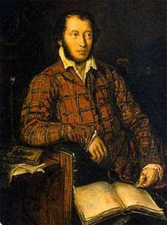 Portrait of A. Pushkin by Carl Mazer (1839)