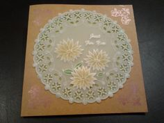 JC's birthday card 2016, parchment inspired by pattern from Mikki Green. Background is Clarity stamp with Perfect pearls on coloured craft cardstock