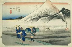 Hiroshige - The Fifty-three Stations of the Tokaido, 13th station Hara