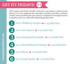 Get Fit Fridays #2 - Awesome Conditioning Workout. Will modify the # of push-ups.