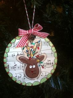 Reindeer Ornament Delightful Tutorials | Official Blog of Lisa M. Pace | Its in the Details