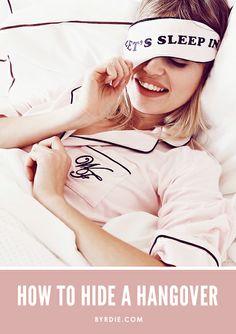 Beauty tips for hiding a hangover {bookmark this asap!}