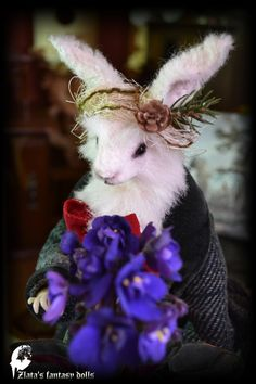 March Hare Mad March Hare Art Doll Animals by ZlatasFantasyForest