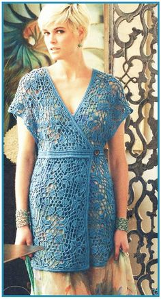 Summer Crochet Dress/Crochet Fashion dress,Spring ,Summer , Women Clothes /  No.CB-52