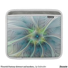 Flourish Fantasy abstract and modern Fractal Art iPad Sleeves