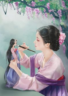 Explore amazing art and photography and share your own visual inspiration! Geisha Tattoos, Afrique Art, 3d Fantasy, China Art, Chinese Painting, Beauty Art, Anime Art Girl, Japanese Art, Painting & Drawing