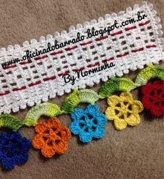 OFICINA DO BARRADO: Croche - Um BARRADO para florir nossos dias...
