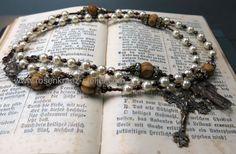 catholic rosary  Ketten lang -  Rosenkranz   Bronze  Jeanne d'Arc - ein Designerstück von Rosenkranz-Atelier bei DaWanda