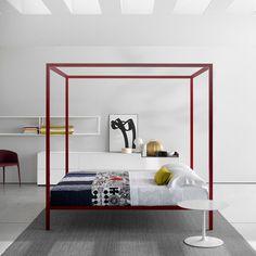 Canopy Bed / Double / Contemporary / Aluminum By Bruno Fattorini MDF Italia