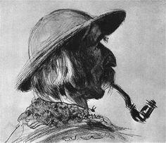 """""""Szymon Tatar"""" by Leon Wyczółkowski, 1907"""