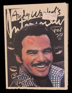 • Classic BURT • Rare & Hard To Find • http://www.ebay.com/itm/Andy-Warhols-Interview-Vol-6-No-2-February-1976-Burt-Reynolds-Hard-to-Find-/130852259167?pt=Magazines=item1e7767055f