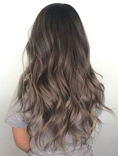 72 Trendy Hair Color Ideas for Brunettes in 2019 Ecemella - # Brunette . - 72 Trendy Hair Color Ideas for Brunettes in 2019 Ecemella – color - Ash Brown Hair Color, Brown Blonde Hair, Ombre Hair Color, Hair Color Balayage, Light Brown Hair, Silver Blonde, Gray Ombre, Ash Brown Ombre, Cool Brown Hair