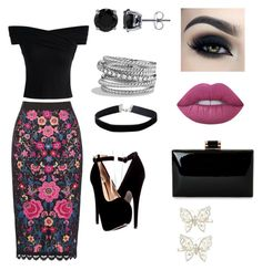 """Floral"" by jill-hubbard on Polyvore featuring Chicwish, BERRICLE, David Yurman, Miss Selfridge, Monsoon and Lime Crime"