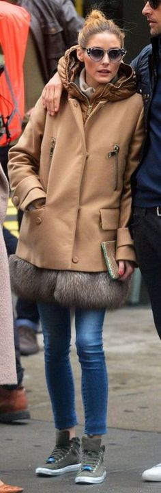 Olivia Palermo wearing Fendi, All Black and Moncler