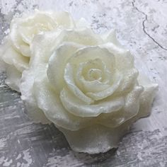 Rose Soap Glycerin Soap Rose Shaped Soap Gift by ElsaNancySoaperia