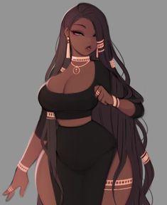 Fantasy Character Design, Character Design Inspiration, Character Art, Black Love Art, Black Girl Art, Orochimaru Wallpapers, Poses, Super Anime, Black Anime Characters