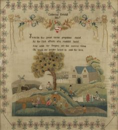Sampler    ...Catherine Kendall    ...1807
