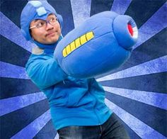 Now you don't have to hack your arm off to become just like your favorite video game hero. With the Mega Man arm pillow you can comfortably cover your right forearm with this soft and fluffy cannon. And when you get tired from cosplaying, it doubles as a sleeping pillow! Buy It $64.64 via E-Capcom.com