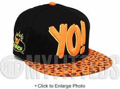 MTV Raps Jet Black Highlighter Orange Bright Maize Yellow Rock Print Visor New  Era 719fa3b68d57