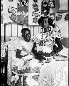 Couple in Saint Louis, Senegal (1915) . #photography #senegal