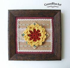 Tablou decorativ floare crosetata